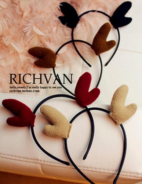 cute Christmas antler ear headband NHFS286645's discount tags