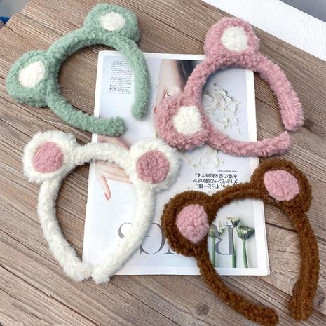 serre-tête en peluche oreilles d'ours mignon cheveux d'agneau NHFS286653's discount tags