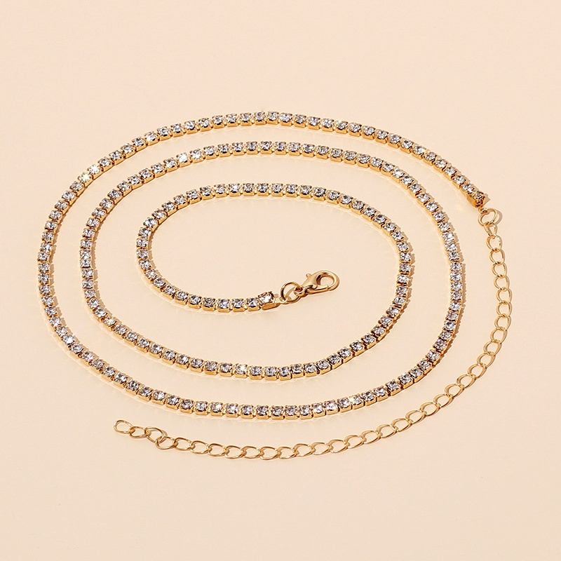 Fashion allmatch  rhinestone waist chain  NHRN286723