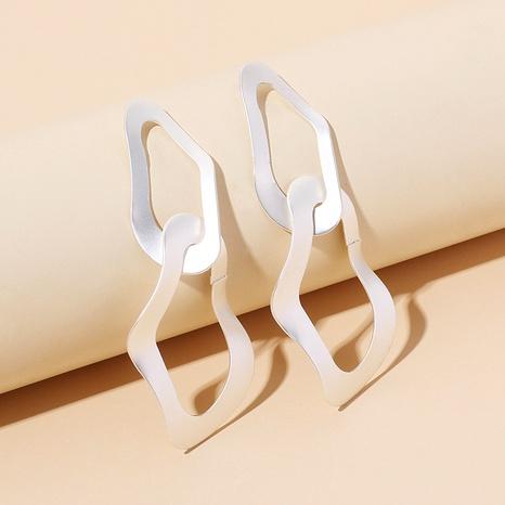 retro silver irregular earrings NHRN286726's discount tags
