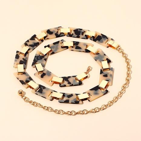 metal resin leopard print waist chain NHRN286716's discount tags