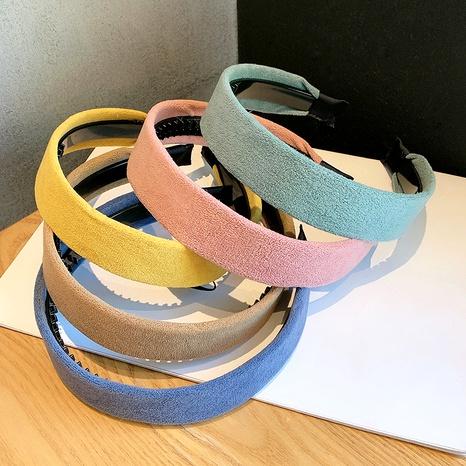 Nouveau bandeau coréen en velours en peau de daim NHOF286737's discount tags