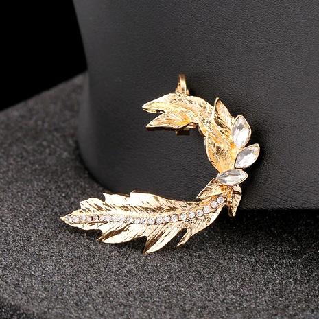 creative diamond leaf ear clip ear bone clip NHYE286749's discount tags