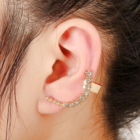 alloy diamond-studded star ear clip  NHYE286753's discount tags