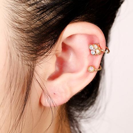 Creative four-leaf clover ear clip  NHYE286754's discount tags