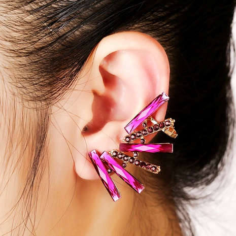 diamond-studded zircon ear clips  NHYE286760's discount tags