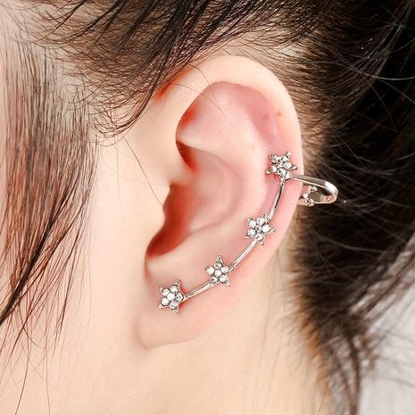 Star-like alloy diamond ear clip  NHYE286761's discount tags