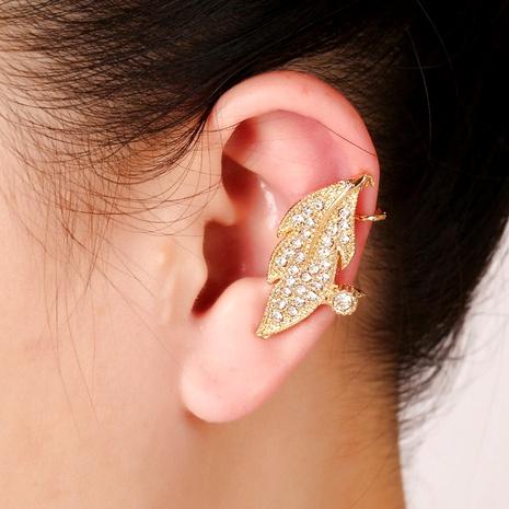 Korean leaf earrings NHYE286762's discount tags