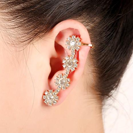 Creative four petals diamond ear clip  NHYE286763's discount tags