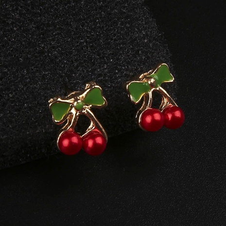 Christmas Alloy Cherry Earrings  NHYE286766's discount tags