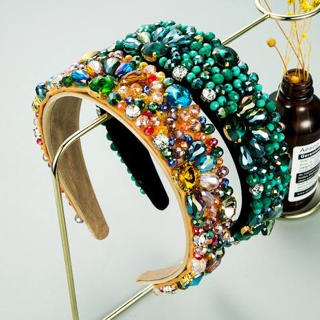 nueva diadema hecha a mano de piedras preciosas de cristal de lujo NHLN286771's discount tags