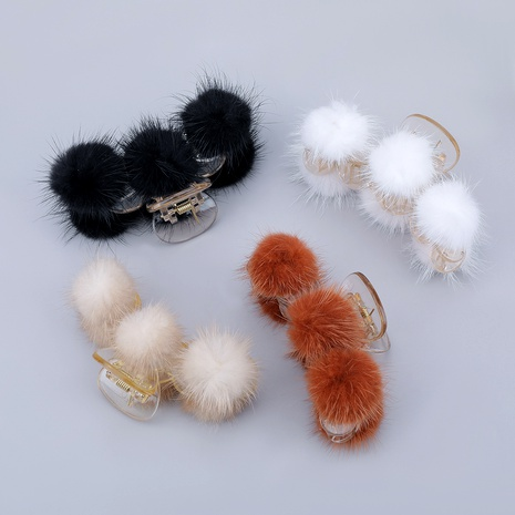 resin hair ball retro grabbing clip  NHJE286802's discount tags