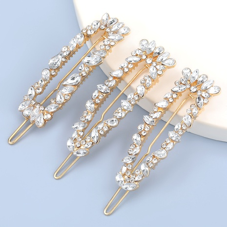 Alloy Diamond Fashion Hair Clip 3-piece NHJE286803's discount tags