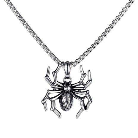 titanium steel spider pendant punk  necklace  NHOP286822's discount tags