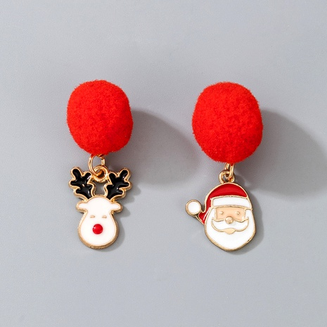 Christmas Elk red pompoms fashion earrings NHGY287382's discount tags