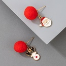 Christmas Elk red pompoms fashion earrings NHGY287382