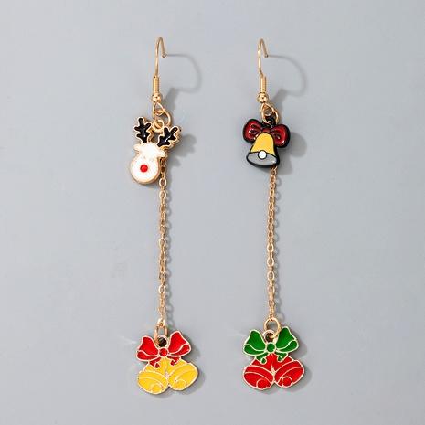 cute Christmas Elk Santa Claus pendant earrings NHGY287381's discount tags