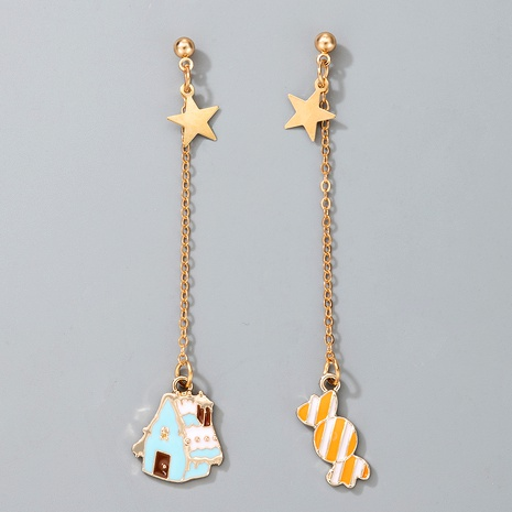 cute Christmas house pendant candy earrings NHGY287378's discount tags