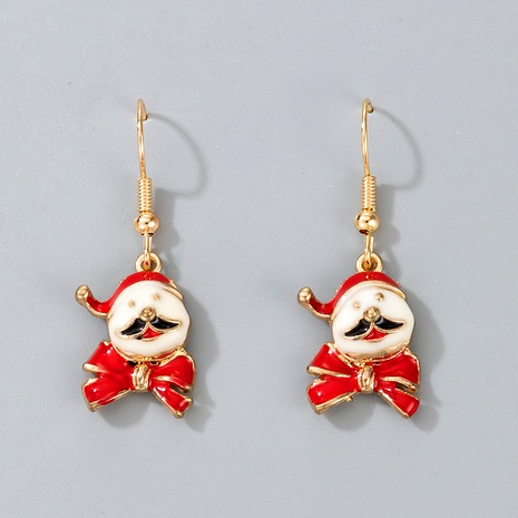 cute Christmas Santa Claus pendant earrings NHGY287371's discount tags