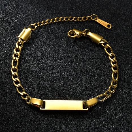bracelet simple à lettres courbées NHHF286489's discount tags