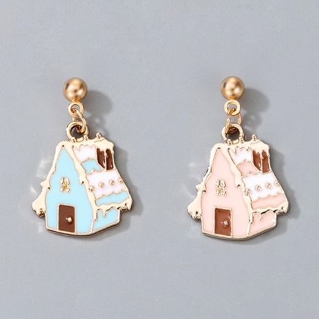 cute Christmas house pendant earrings  NHGY287373's discount tags