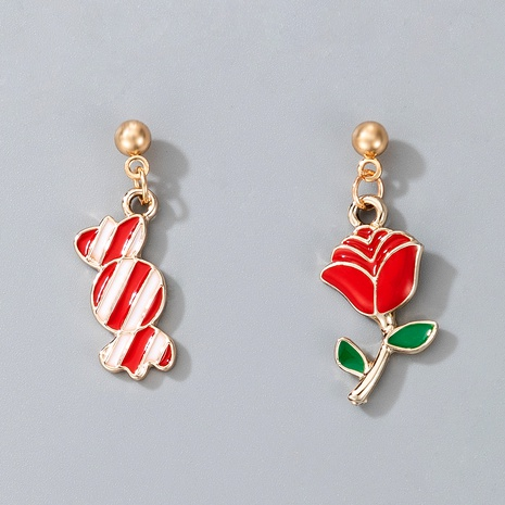 cute Christmas flower candy earrings  NHGY287369's discount tags
