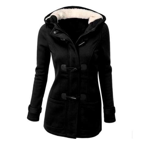 chaqueta de manga larga de color sólido con capucha de moda NHUO286985's discount tags