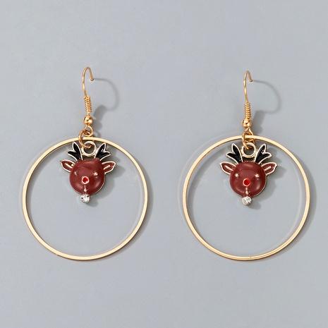 Christmas series alloy elk earrings  NHGY287374's discount tags
