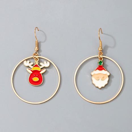 lindos pendientes navideños de alce Santa Claus NHGY287345's discount tags