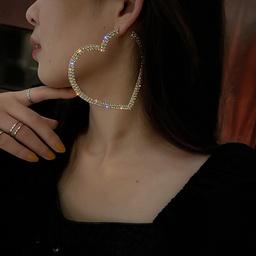 Pendientes de plata 925 con diamantes y agujas NHQC286944