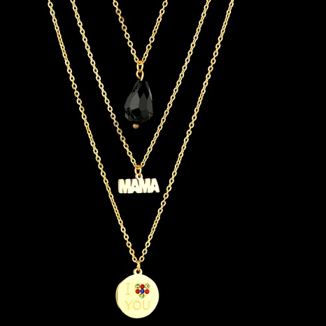 fashion  letter round necklace  NHHF286511's discount tags