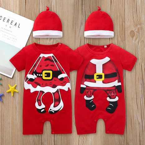 Christmas one-piece baby short-sleeved cartoon romper  NHLF287058's discount tags