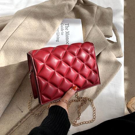 rhombus chain messenger fashion small square bag NHEX287128's discount tags