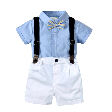 gentleman suit baby sling two-piece suit  British style handsome children's dress NHTB287177's discount tags