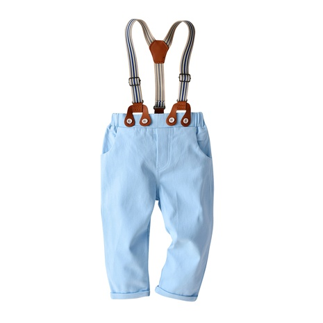 children's casual trousers gentleman bib baby cotton trousers NHTB287178's discount tags