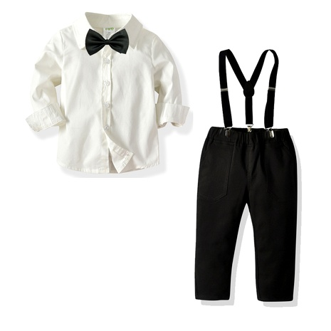 new children's  bow tie shirt bib trousers  suit NHTB287182's discount tags