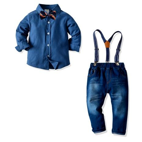 cotton long shirt stretch denim pants suit  NHTB287184's discount tags