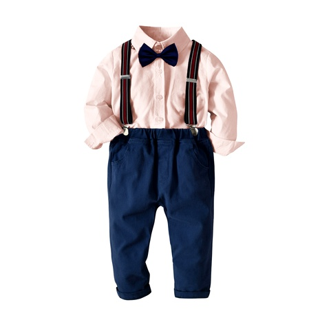 shirt long-sleeved suspenders trousers four-piece suit NHTB287186's discount tags