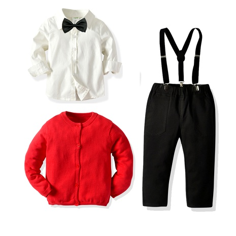 children's clothing boys knitted sweater  multi-piece suit NHTB287197's discount tags