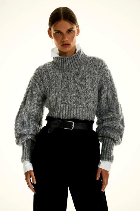 suéter de mujer de punto corto de ocho hilos de invierno NHAM287300's discount tags