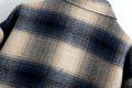 plaid loose casual midlength woolen coat  NHAM287310