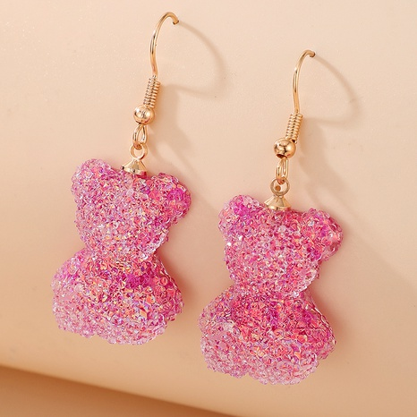 cute bear animal earrings  NHGY285659's discount tags