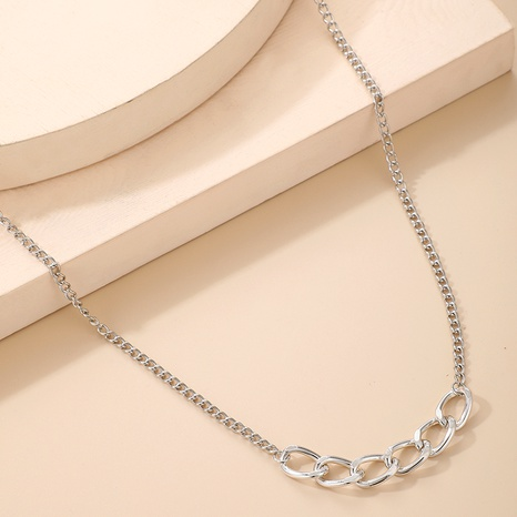 retro hip hop punk white alloy twist chain necklace  NHGY285660's discount tags