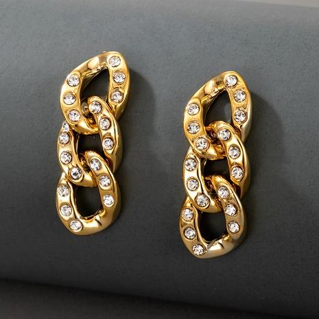 fashion retro diamond long tassel earrings NHGY287759's discount tags