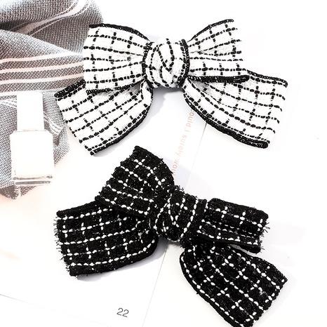 exquisite black and white hair clip  NHAU287427's discount tags
