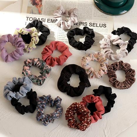floral chiffon retro hair scrunchies NHAU287430's discount tags