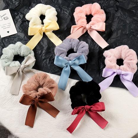 rabbit hair bow hair scrunchies NHAU287431's discount tags