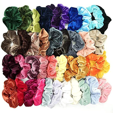 fashion new  velvet elastic hair scrunchies set  NHGE287439's discount tags