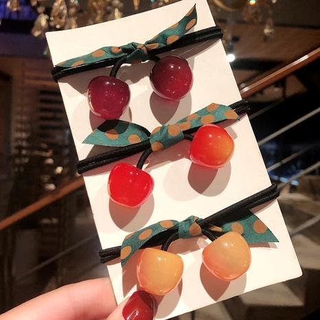 Bowknot cherry korean simple hair ring  NHGE287448's discount tags