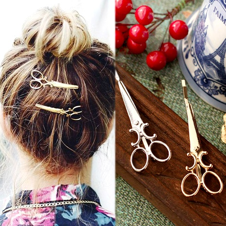 Fashion Scissors Hair Clips NHGE287454's discount tags